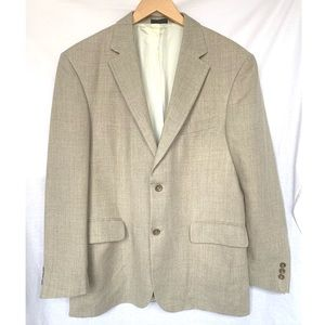 Oscar De La Renta Linen Jacket Blazer